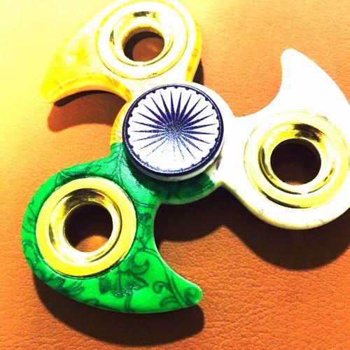 Indian Flag Design Hand Fidget Spinner (High Spin Time)
