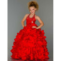 Red Kids Stylish Gown