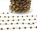 Black Spinel Rosary Beaded Chains