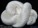 Pure Silk Wool Knitting Yarn-White