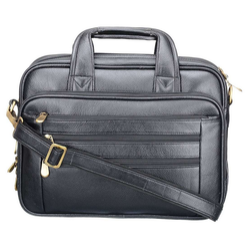 Genuine Leather Black Briefcase LPBL003