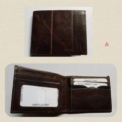 Designer Men Crunch Leather Wallet