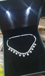 Pendant Diamond Necklace, Packaging Type: Box, for Party Wear