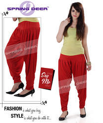 Red Patiala Pants