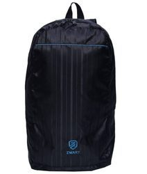Black And Blue Plain Backpack