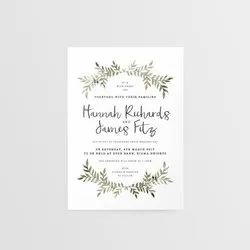 Rectangle Paper Wedding Invites Cards