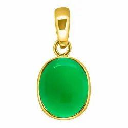 Green Onyx Pendant Panchdhatu Gemstone