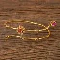 Antique Gold Plated Classic Baju Band 203055