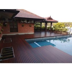 Matte Swimming Pool Wooden Deck Flooring, Thickness: 14-19 Mm