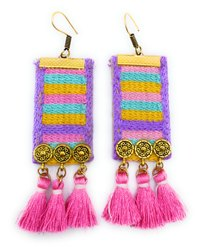 FE002 Handmade Fabric Earrings