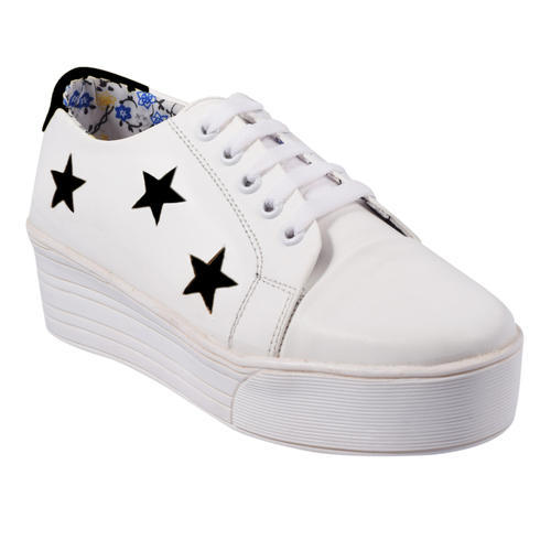 3905ef2d524 Synthetic Women White High Heel Sneakers Shoes