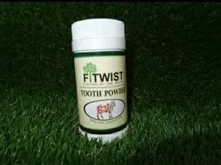 Fitwist Ayurvedic Tooth Powder, For Personal, Packaging Type: Plastic Bottle