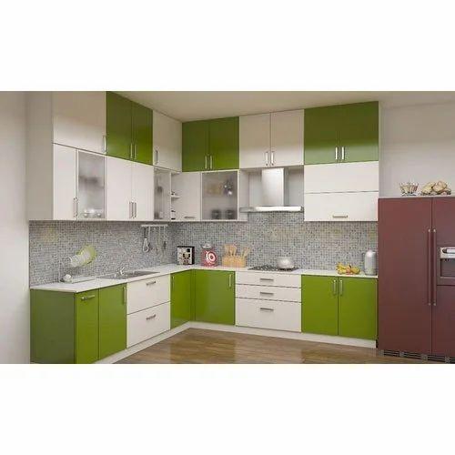 Green White Aluminium Designer Kitchen Cabinet Rs 2200 Square Feet Id 19709603355