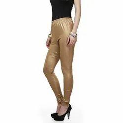 Ladies Plain Shimmer Leggings