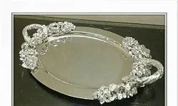 Oval Silver Trays