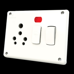 16 AMP Electric Switch Socket With Fuse And Indicator