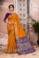 Designer Tussar Silk Weaving Saree with Blouse Piece