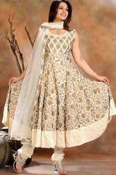 Off White Ladies Designer Churidar
