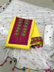 Pom - Pom Dress Material
