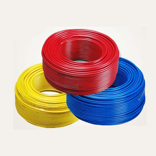 Yellow, Red And Blue Pvc 130 Meter Polycab Electrical Wires, 220-240 V