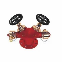 Gun Metal Double Outlet Landing Valve