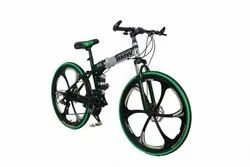 BMW Green Silver Foldable Cycle