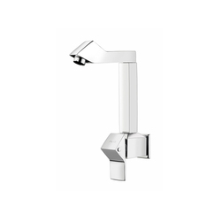 Wall Mounted Sink Cock With Swinging Spout