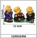 Decorative Monk Buddha set of 3