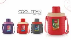 Steel Round Cello Cool Titan Water Bottle, Capacity: 2000 Ml,Also Available 2500 Ml