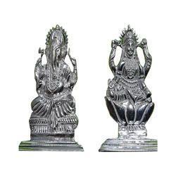 AJ Ornaments Silver laxmi ganesh statues