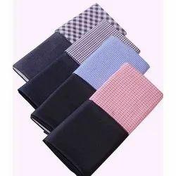 Plain, Checks Checks Shirting Fabrics, For Shirt And Trouser Making, 150 - 200