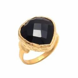 Heart Shape Black Onyx Gemstone Rings