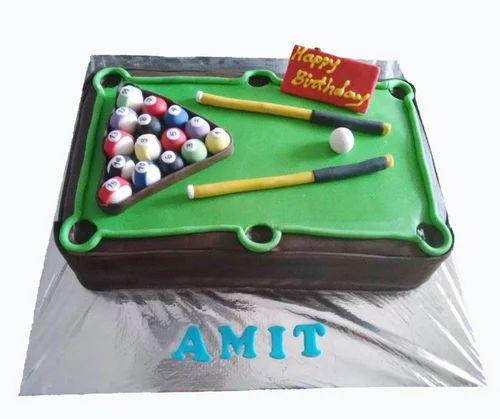 Prime Pool Table Cake At Rs 3200 Pack Theme Cake Id 17327196948 Personalised Birthday Cards Akebfashionlily Jamesorg