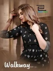 Party Wear Straight Long Rayon Kurti