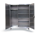 Polished 7 Rack Stainless Steel Janitorial Cabinet For Pharma Industry