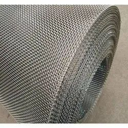Silver Hot Rolled Stainless Steel Wire Mesh, For Industrial, Material Grade: SS304