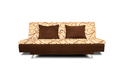 Adorn India Berry 3 Seater Sofa Cum Bed Digitel Print (Brown & Beige)
