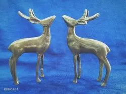 Golden Brass Deer For Interior Decor