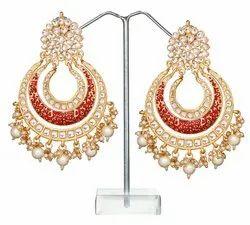 Bridal Wedding Kundan Earrings Jewelry