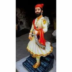 Multi Color Sambhaji Maharaj Statue