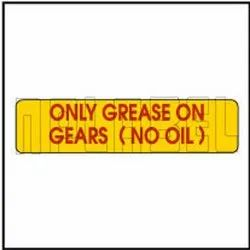 940265 Instruction Sticker - Only Grease On Gears