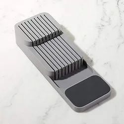 Layer Design Kitchen Knife Holder - Compact 2 Tier Knife Organizer