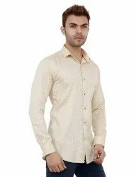 Full Sleeve Light Yellow Color Casual Shirt