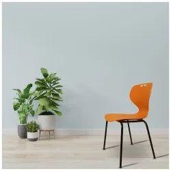 Orange Plastic Seat & MS Legs Apple Design Chair