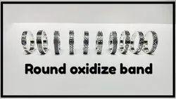 925 Oxidize Band Round