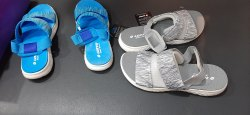 Grey & Blue Girls Lotto Sport Shoes