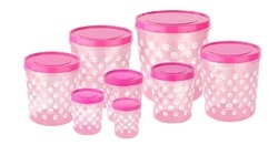 Airtight Plastic Containers 8 PCS Set