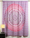 Cotton Mandala Printed Decorative Door and Window Curtain