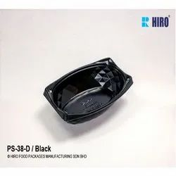 PS-38-D-Black Plastic Container