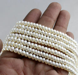 Pearl Button Shape Beads